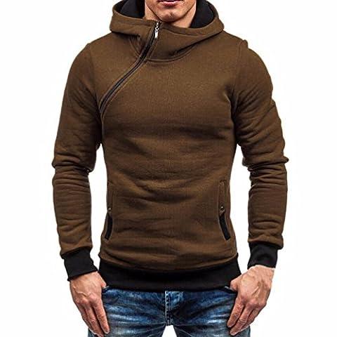 Famille Hommes Encapuchonné Fermeture éclair Sweat-shirt, L