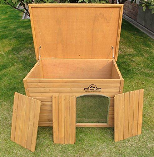XL Isolierte Norfolk Hundehütte Aus Holz Mit Entfernbarem Boden Zur Einfachen Reinigung - 4