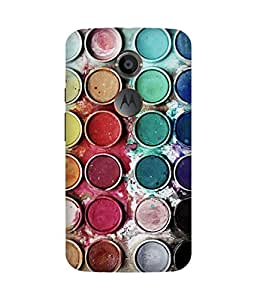 Colour Pallete Printed Back Cover Case For Motorola Moto X