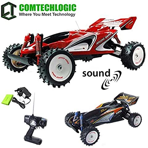 Comtechlogic® CM-2224 1:8 Scale 4WD Large Zap Turbo Remote Radio Control RC 30Kmh Fast High Speed Racing Outdoor Off Road Buggy Truggy Car with Realistic Engine Sound Effects, Wheel Spinning sound, Reverse Horn, Main Horn & Wheel Illumination - EP RTR