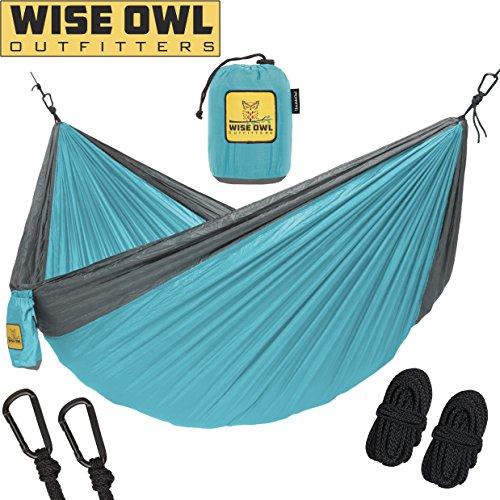 Filter Wrap (Wise Owl Outfitters Hängematte - Einzel- Und Doppel Camping Hängematten - - Tragbares Leichtes Fallschirm Nylon. DoppeltOwl DO Blau Und Grau)