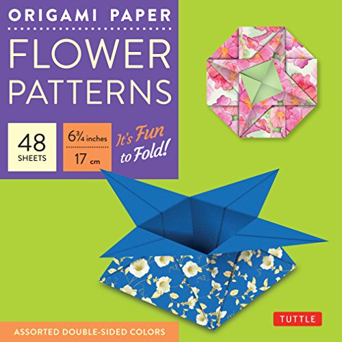 Origami paper flower pattterns medium 6 3/4 48 sheets (Tuttle Origami Paper)