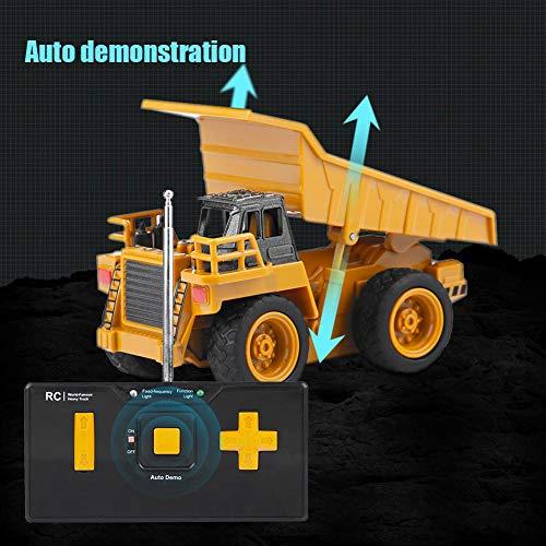 RC Auto kaufen Baufahrzeug Bild 6: Alomejor RC Bauwagen, Mini DIY Baufahrzeug RC Bagger Truck Bagger Kits Baustein Spielzeug(Kipper)*