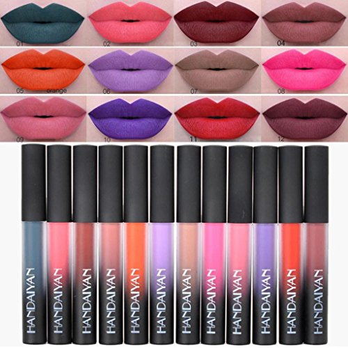 12 Colores Profesional Pintalabios Mate Labial Maquillaje