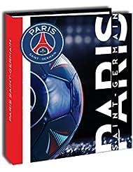 PSG Classeur Carton Mixte Enfant, Bleu/Rouge, 4 cm