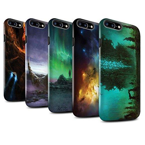 Offiziell Chris Cold Hülle / Glanz Harten Stoßfest Case für Apple iPhone 7 Plus / Raum Mädchen Muster / Fremden Welt Kosmos Kollektion Pack 12pcs
