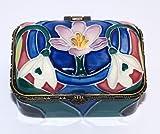 "Old Tupton Ware Art Deco Rectangular Trinket Box ""Spring Bouquet""."