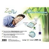 ZenPur - Lot de 2 Oreillers Fibre de Bambou Bio à Mémoire de Forme 100% Visco-Elastique Enrichie à l'Huile de Soja - 60x40cm - Accepte une Taie de 50x70cm par Oreiller