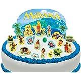 Scène pour gâteau Disney Vaiana comestible PRÉ-DÉCOUPÉE - 22 décorations par Cakeshop