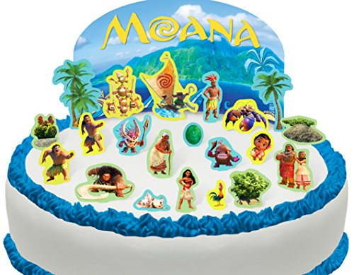 Price comparison product image Cakeshop PRE-CUT Disney Moana Edible Cake Scene - 22 pieces
