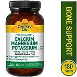 Country Life Target Minuten Calcium Magnesium Kalium 500mg/MG/99mg 180-tablet