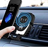 URANUS Car Mount Wireless Charger for iPhone X/8/8 Plus, Samsung Galaxy Note 8/S8