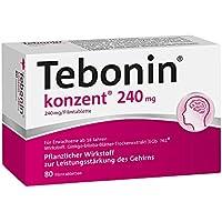 Tebonin konzent 240 mg Filmtabletten 80 stk preisvergleich bei billige-tabletten.eu