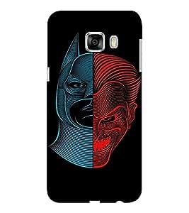 EPICCASE Two sides of Man Mobile Back Case Cover For Samsung C5 (Designer Case)
