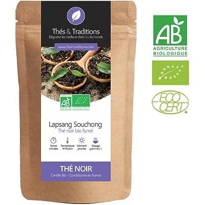 Lapsang Souchong BIO - Thé Noir Fumé | Sachet 100g vrac | ? Certifié Agriculture biologique ?