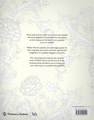 William Morris: An Arts & Crafts Colouring Book (Victoria and Albert Museum)