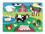 Melissa & Doug 19050 - Peg Puzzle in Legno - Animali da Fattoria