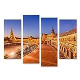Bild Bilder auf Leinwand Sevilla Spanien an der Plaza de