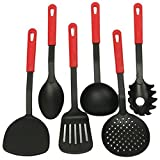 KaariFirefly 6 Piece Home Kitchen Sets Cooking Tools Nylon Spatula Spoon Utensils Cookware