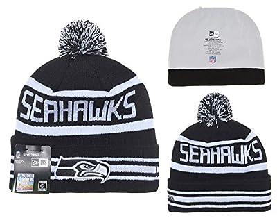 NFL Sideline Seattle Seahawks Bobble Strickmütze Hut