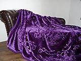 Luxus Kuscheldecke Tagesdecke Decke lila violett 160x200cm