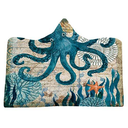 Hukz U-Boot Tier Hut Decke-Verschiedene Karikatur-Tierhut-Decken können als Badetücher verwendet Werden(Material: superfeine Faser,5 Größen) (C)