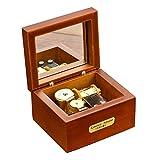 Laxury Mini-Musikbox, kreativ, Holz, mit Handkurbel, 18 Töne