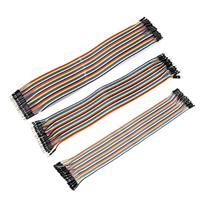 Generic 120Pcs 30cm Male To Female Male To Male Female To Female Jumper Cable DuPont Line For Arduino One Piece