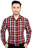 GloblRang Checks Casual Shirt for Men Stylish (SHIRTCHK-421-R-M)