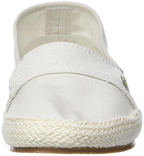 Lacoste Damen Marice 218 1 Caw Sneaker Weiß (Off Wht/pnk 06c)