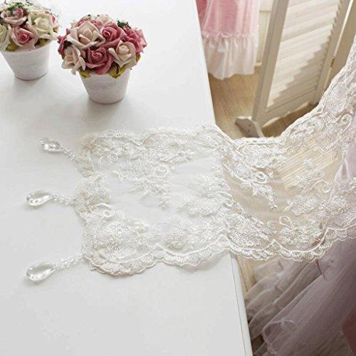 Preisvergleich Produktbild PRIDE S Lace Crystal Pendant Esstisch Tischläufer Weiß ( größe : 24*210cm )