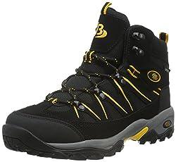 Bruetting MOUNT HUNTER HIGH, Unisex-Erwachsene Trekking- & Wanderschuhe, Schwarz (SCHWARZ/GELB), 43 EU (9 Erwachsene UK)