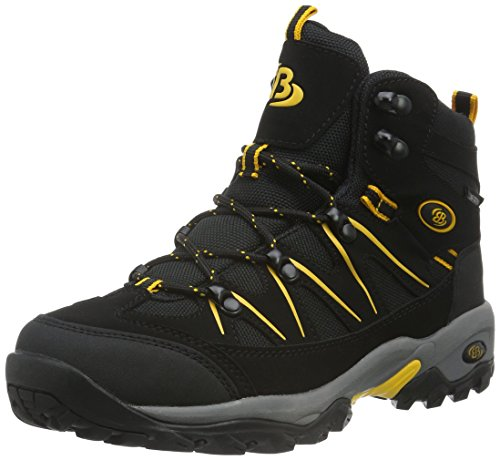 Bruetting Mount Hunter - Zapatos de senderismo de material sintético hombre, Negro (SCHWARZ/GELB), 42
