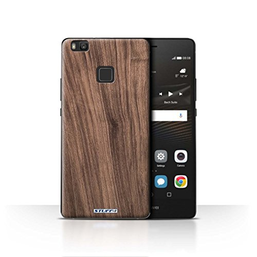 Stuff4® Hülle/Case für Huawei P9 Lite/Nussbaum Muster/Holz/Holzmaserung Muster Kollektion -