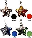 Season's Greetings Schlüsselanhänger Pailletten Stern Anhänger mit Wendepailetten 13cm (rot)