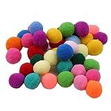 BeipeY 100 Stück Mischfarbe Runde Filz Bälle mehrfarbige Pompon Bälle Handwerk Bälle für DIY Handwerk Dekorationen