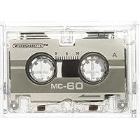 Genie Pack de 2 microcassettes MC-60 30 minutes dans boîtier en plastique, compatible avec tous les dictaphones et répondeurs, Gris
