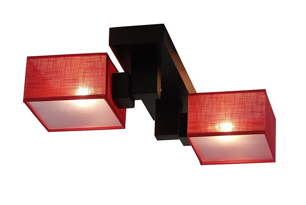 deckenlampe deckenleuchte leuchte lampe barsa 008 rot 2. Black Bedroom Furniture Sets. Home Design Ideas
