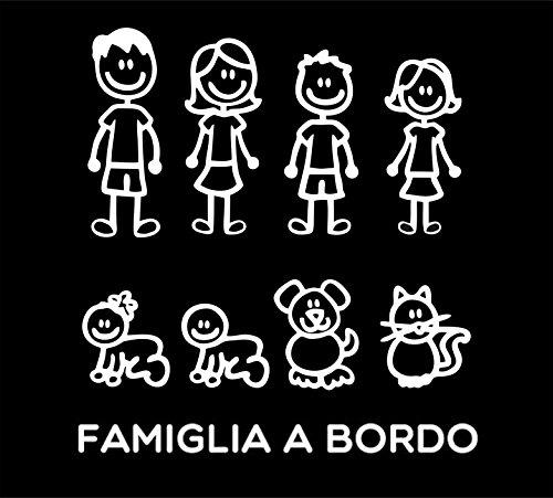 Pegatinas Familia–Juego completo–Familia a bordo–Color: