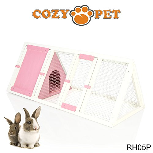 cozy-pet-rabbit-hutch-hide-run-guinea-pig-house-ferret-cage-rabbit-hutches-in-pink-rh05p-we-do-not-s