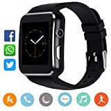 CanMixs Bluetooth Smart Watch with Camera, CM03 Touchscreen Smart Wrist Watch Sim Card Slot, Unlocked Waterproof Fitness Activity Tracker Sport Watch for Android Samsung Partially Compatible with IOS
