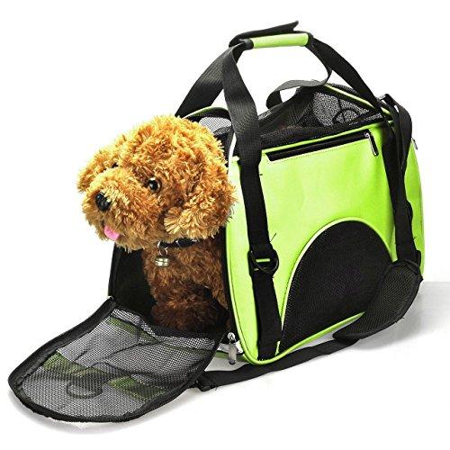 Reversibile per trasportare cani gatti animali domestici mogoko borsa a tracolla per animali domestici borsa a mano borsa da viaggio approvata per linee aree trasportata gli animali con lati imbottiti, grandezze small/medium/large