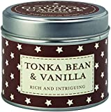 "The Country Candle Company Superstars Collection ""Tonka Bean and Vanilla"" Candle in Tin, Multi-Colour"