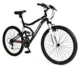 Muddyfox New Mens/Gents Black 26 Inch Dual Suspension Mountain Bikes...