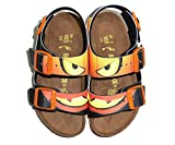 Birkenstock , Jungen Sandalen, mehrfarbig - HALLOWEEN PUMPKIN BLACK - Größe: 26 EU