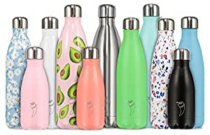 Chilly's Bottles | Leak-Proof, No Sweating | BPA-Free Stainless Steel | Reusable Water Bottle | Double Walled Vacuum Insulated | Keeps Drinks Cold for 24+ Hrs, Hot for 12 Hrs | Silver, 260ml