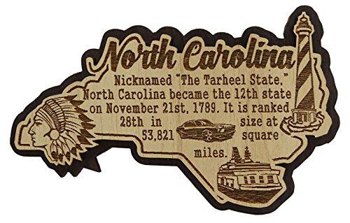 USA-North Carolina-Staats-Karten-hölzerner Magnet-Andenken-Kühlraum-Magnet-Geschenk