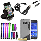Accessory Master 15 in 1 Mega Value Pack-Cover in Silicone per Samsung Galaxy Ace, NXT SM G313