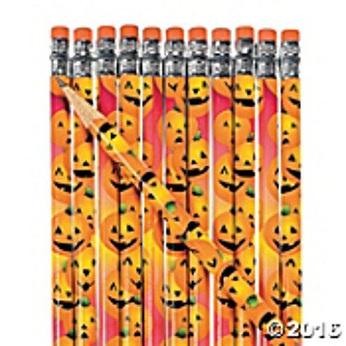 Halloween zucca matite con gomma top (confezione da