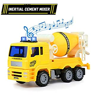 Tractor Toy Cars Cement Mixer Toy Truck With Light and Sound Construction Vehicle Toys Car Gift for 3 4 5 Year Old Boys Girls Kids